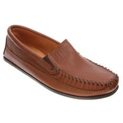 Minnetonka Twin Gore Moose Mens Hard Sole Slippers