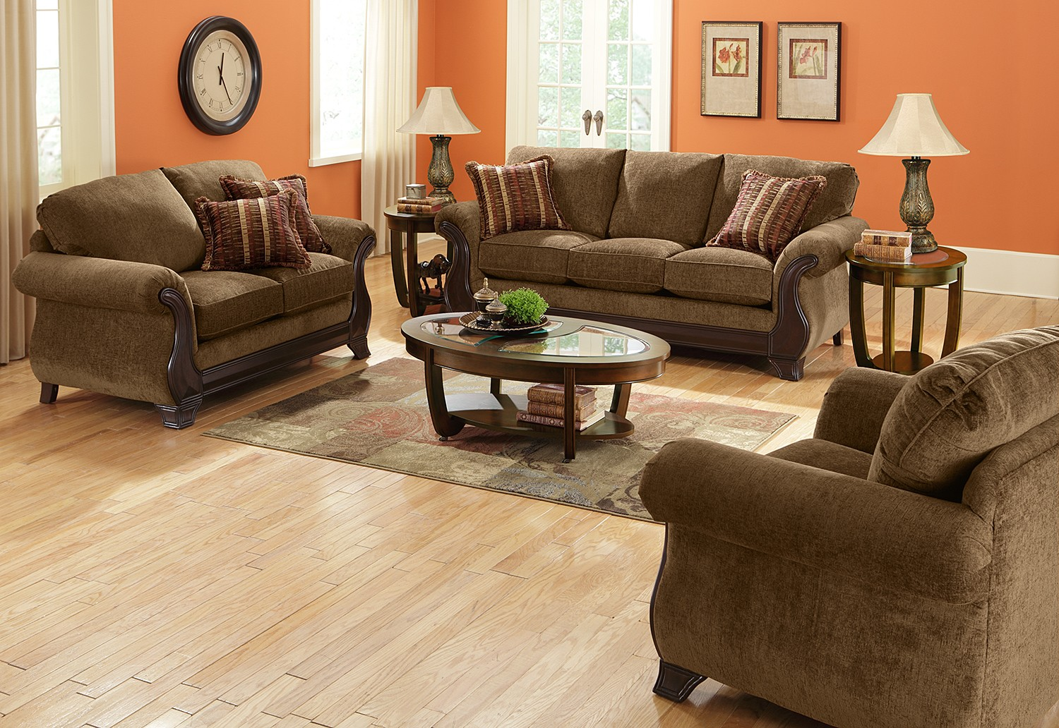 Amazing Living Room with Dark Brown Furniture 1500 x 1032 · 438 kB · jpeg