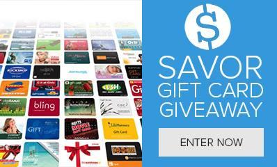 Savor GiftCard Giveaway