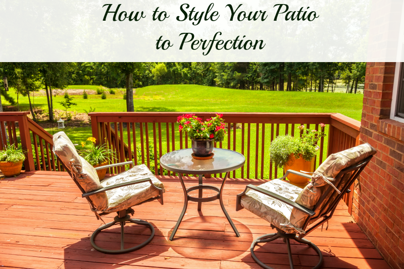 How to Style Your Patio to Perfection