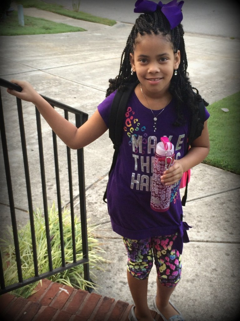 Jada's 2nd day of 4th grade