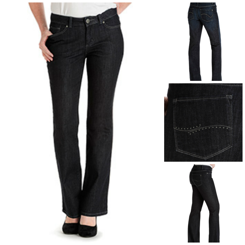 lee curvy and easy fit jeans