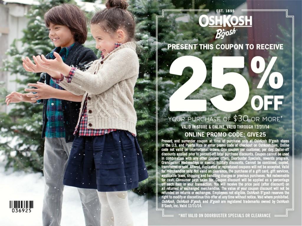 OshKosh B'gosh holiday