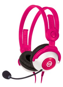Kidz Gear Deluxe Stereo Headset Headphones with Boom Microphone - Pink