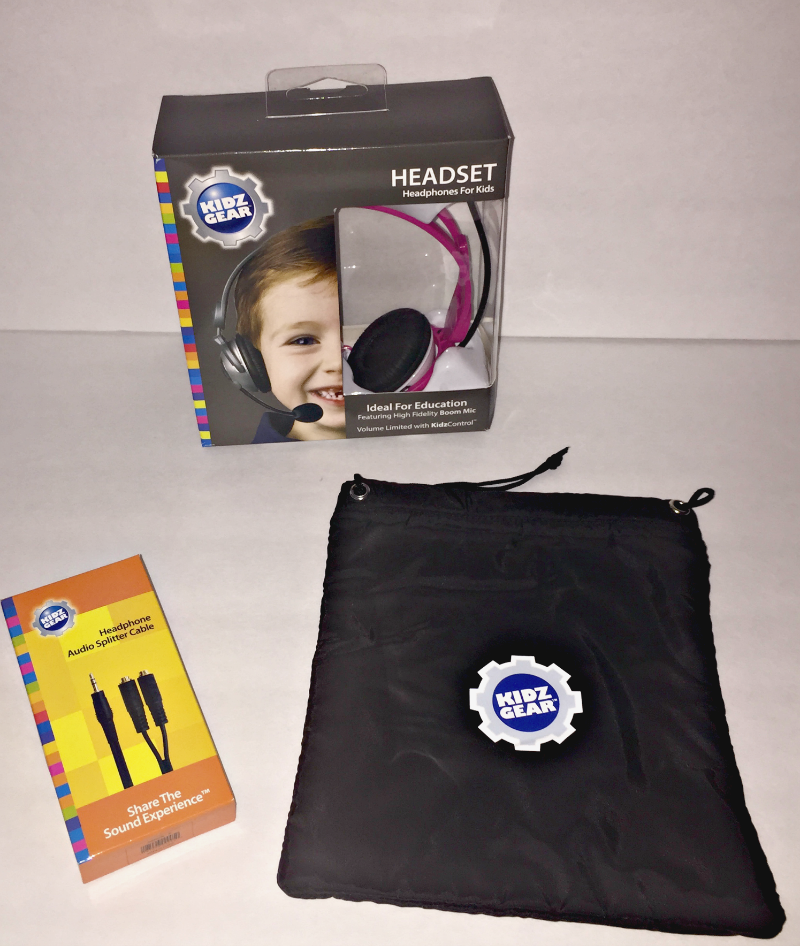 Kidz Gear Deluxe Stereo Headset Headphones with Boom Microphone