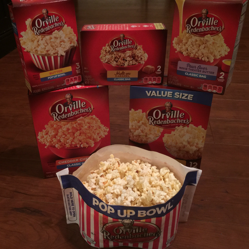 Orville Popcorn selections