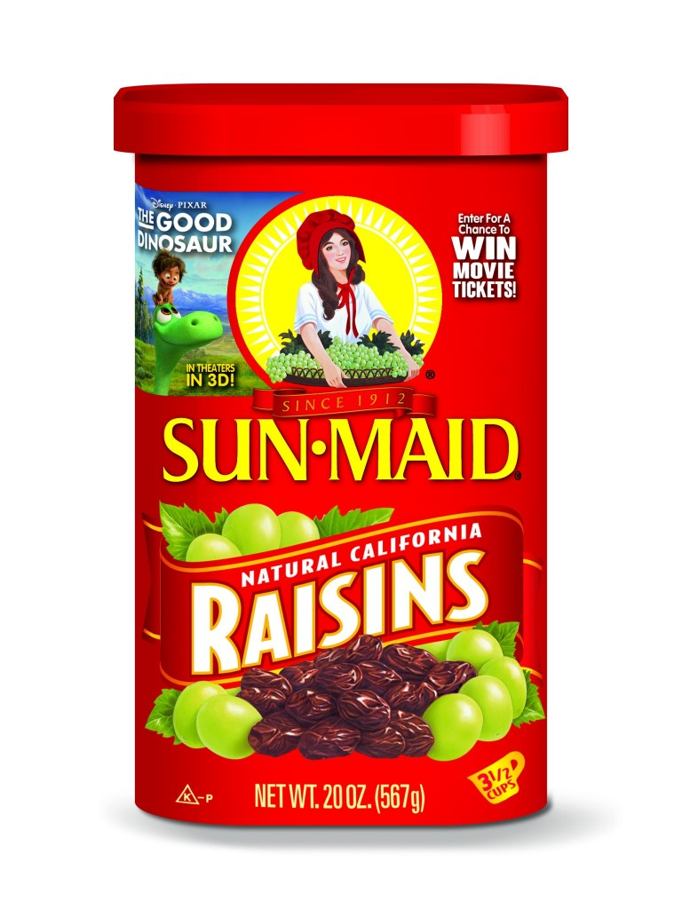 Sun-Maid Raisins Package - With The Good Dinosaur Promotion