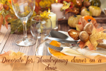 Decorate for Thanksgiving dinner on a dime