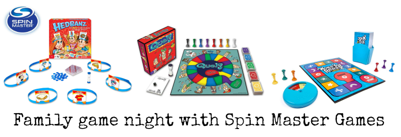 Family game night with spin Master games
