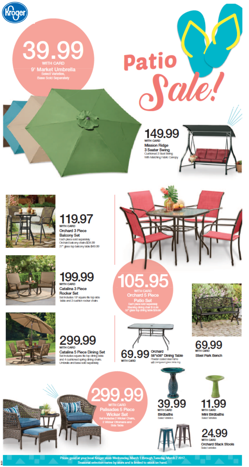 Style Your Patio To Perfection With Furniture Accessories From Kroger